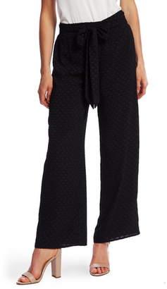 CeCe Clip Dot Wide Leg Pants