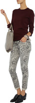 Current/Elliott The Ankle Skinny lace-print low-rise jeans
