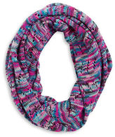 Capelli New York Contrast Knit Infinity Scarf