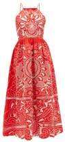 RED Valentino Broderie-anglaise Cotton Dress - Womens - Red