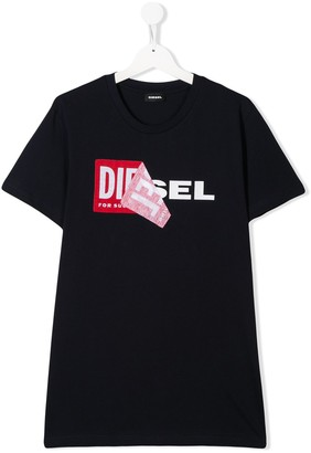 Diesel TEEN TDiego double logo T-shirt