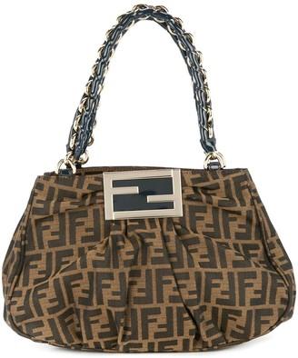 Fendi Pre Owned Zucca chain hand bag
