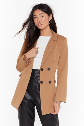 BEIGE Nasty GalNasty Gal Womens Tailored To Your Needs Double Breasted Blazer L,