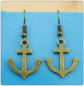 Nobrand No brand Simple Vintage 23*19mm Anchor Charm Dangle Earring, Charming Drop Earring
