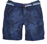 Scotch Shrunk BELTED PAISLEY COTTON SHORTS