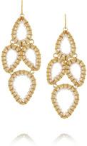 Swarovski Gold-plated crystal earrings