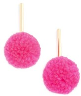 BaubleBar Women's Barbados Pompom Drop Earrings
