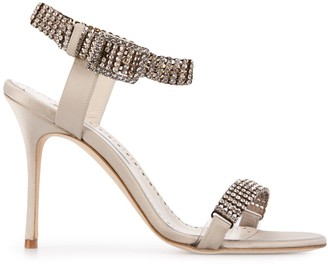Manolo Blahnik Bashifa crystal-embellished sandals