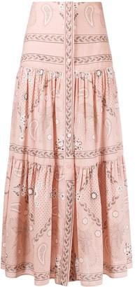 Sandro Paris Bandana-Print Maxi Skirt