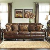 Signature Design by Ashley Hutcherson Leather Sofa