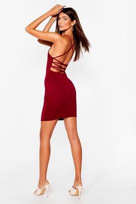 Nasty Gal Womens Cross Paths Mini Dress - Berry