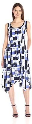 Jones New York Women's Painted Scroll Handkerchief Dress