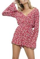 MinkPink Roses Are Red Ditty Playsuit