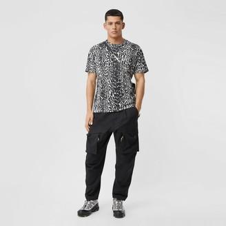Burberry Leopard Print Cotton Oversized T-shirt