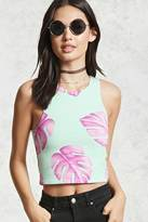 Forever 21 Palm Leaf Print Tank Top