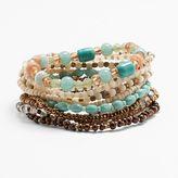Mudd Seed Bead Stretch Bracelet Set