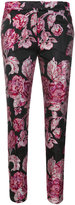 Christian Pellizzari roses jacquard tailored trousers