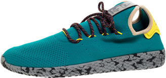 adidas Pharrell Williams x Green Mesh Tennis Hu 'Teal' Sneakers Size 46