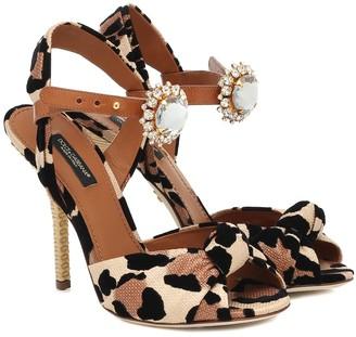 Dolce & Gabbana Keira leopard-print sandals