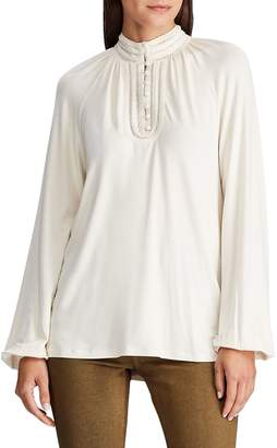 Lauren Ralph Lauren Mockneck Long-Sleeve Blouse