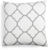 "Charter Club Damask Designs Damask Designs Geometric 18"" Square Decorative Pillow, Created for Macy's"