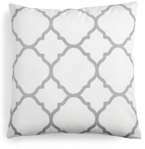 "Charter Club Damask Designs Geometric 18"" Square Decorative Pillow, Created for Macy's Bedding"