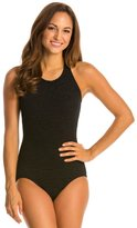 Penbrooke Krinkle Mastectomy High Neck Chlorine Resistant One Piece Swimsuit 40881