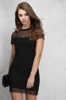Rare Black Short Sleeve T Shirt Dress