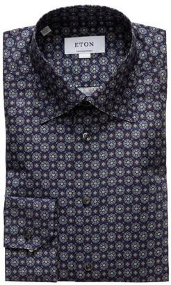 Eton Contemporary-Fit Medallion Print Dress Shirt