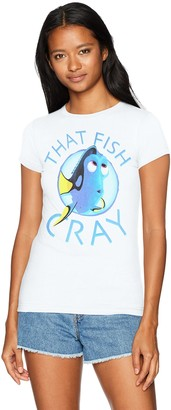 Disney Women's Pixar Finding Dory That Fish Cray Crew Neck Graphic T-Shirt