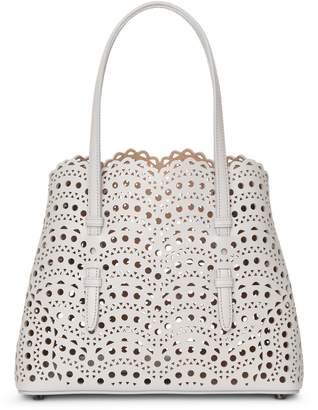 Alaia Mina Small light grey tote bag
