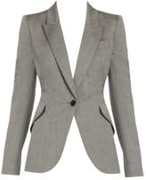 Alexander McQueen Sharkskin Wool Blazer