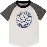 Converse White Logo Raglan Tee - Toddler & Boys