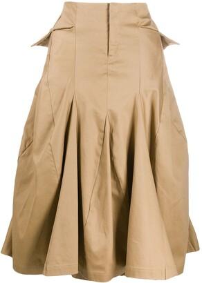 Junya Watanabe Comme Des Garçons Pre Owned 2000s Structured Asymmetric Skirt