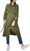 Topshop Women's Embroidered Trench Coat