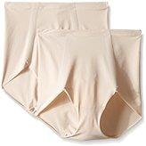 Flexees Women's Maidenform Sleek Smoother Brief (Pack of 2)