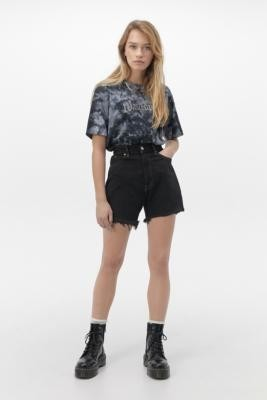 Urban Renewal Vintage Levi's Black Raw Cut Shorts - Black L at Urban Outfitters