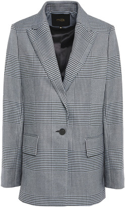 Maje Prince Of Wales Checked Jacquard Blazer