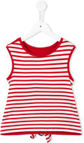 Junior Gaultier striped tank top - kids - Spandex/Elastane/Viscose - 6 yrs