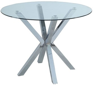 Chopstick 100cm Round Glass Table - Clear