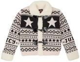 Juicy Couture Girls Sweater Fair Isle Sweater Sherpa Coat