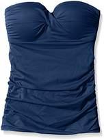 Moontide Women's Twist Freedom Fuller Cup Twist Tankini Full Cup Plain Bikini Top
