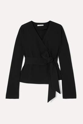 La Collection - Manon Wool-blend Wrap Top - Black