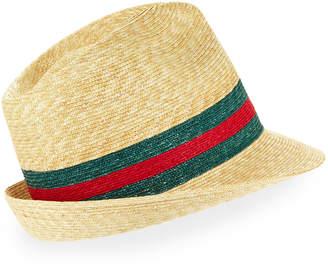 Gucci Abacá Straw Fedora Hat