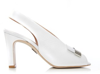 Moda In Pelle Rosela White-Metallic Leather