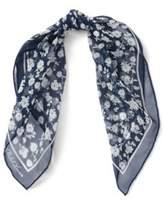 Ralph Lauren Floral Silk Chiffon Scarf Navy One Size