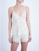 Eberjey Stargazing jersey and lace camisole