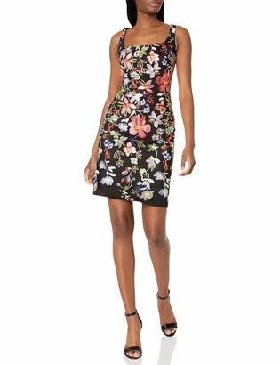 Nicole Miller Women's Sleeveless Embroidered Bodycon Dress