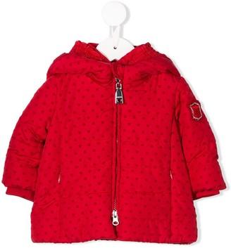 MonnaLisa Heart Print Hooded Jacket