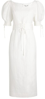Shona Joy Blanca Puff-Sleeve Dress